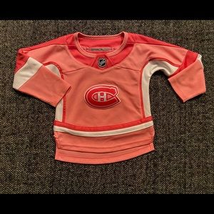 NHL Montreal Canadian jersey in pink size 2T